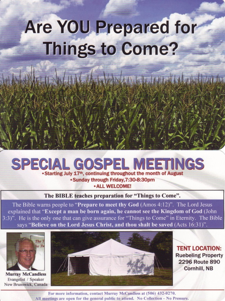 Corn Hill Gospel Meetings